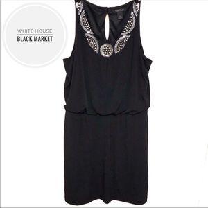 WHBM Sleeveless Jeweled Neckline Dress [large]